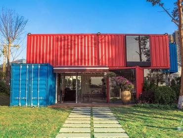 集装箱变身售房中心,颜值与实力并存