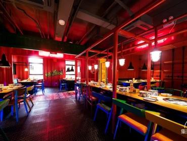 上海自助餐厅,集装箱皮及箱门做喷漆处理