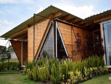 集装箱住宅松木作为次结构的建材以及内部装饰
