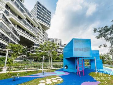 打破垂直、孤立-Interlace住宅景观· 集装箱型住宅景观