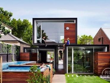 集装箱就能帮你搞定单元为概念组合成的房屋