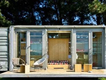 自然森林集装箱度假屋