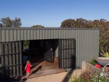 澳大利亚集装箱山间别墅
