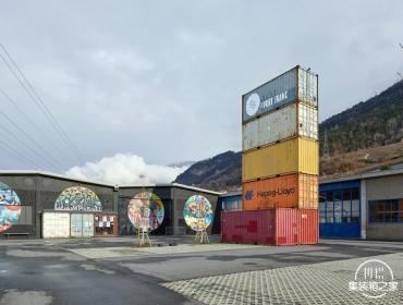 瑞士西昂集装箱音乐会场