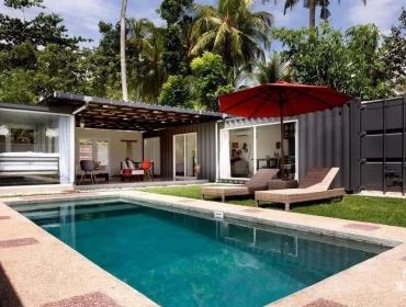 现代度假屋,由印度尼西亚的运输集装箱